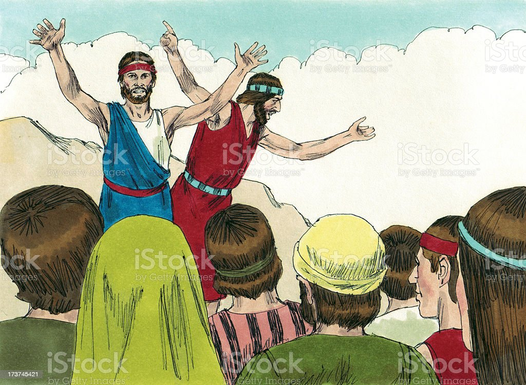 Moses--Israelites Complain stock photo