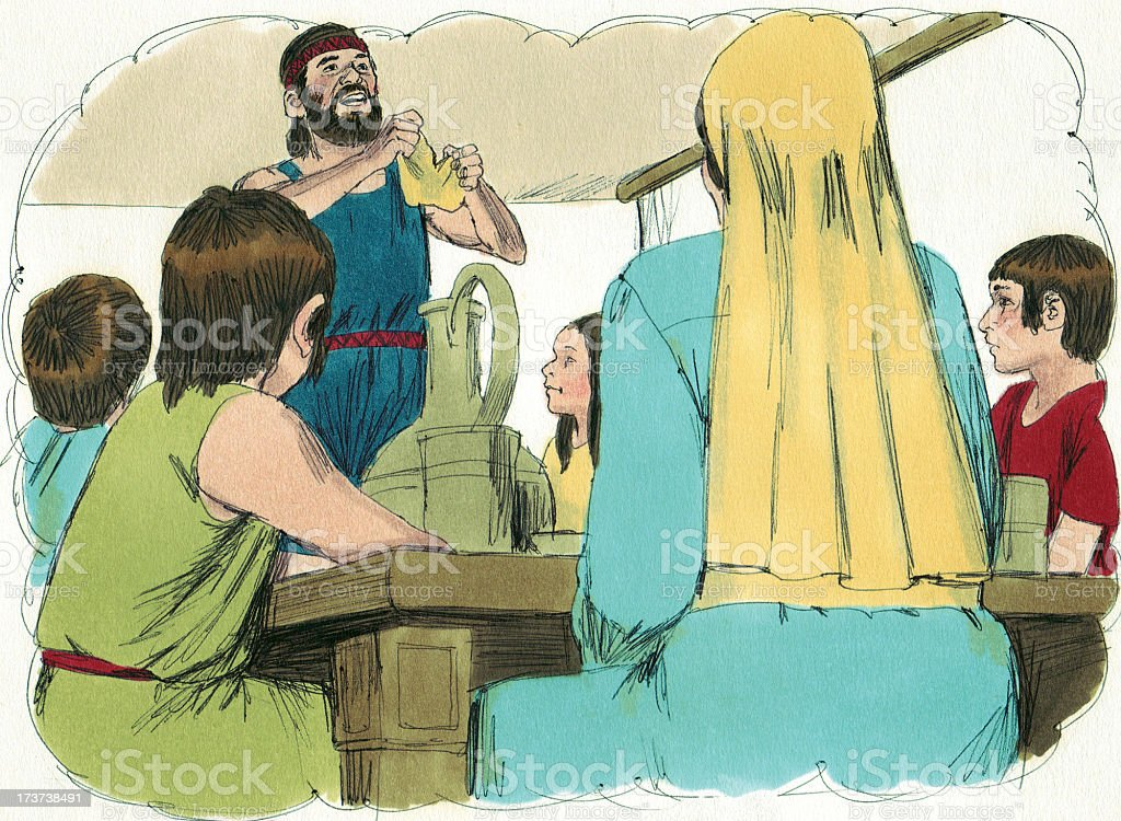 Moses--Passover Bread stock photo