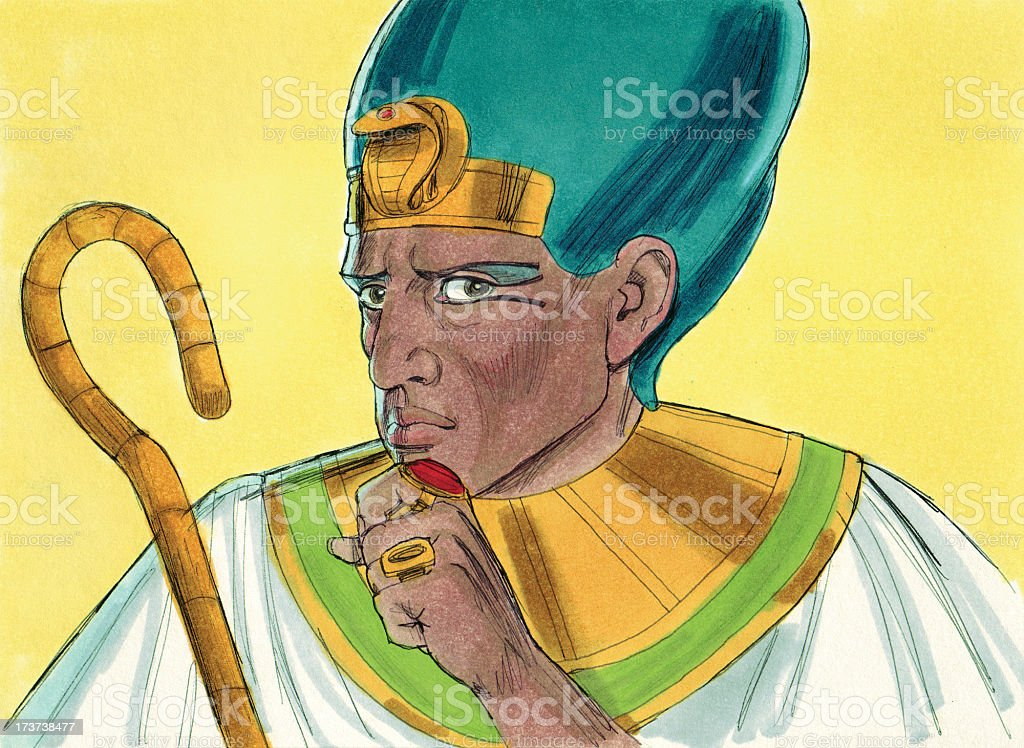 Moses--Pharaoh stock photo