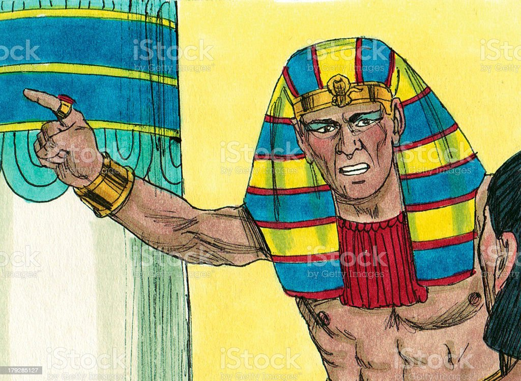 Moses--Pharaoh Says Let Them Go stock photo