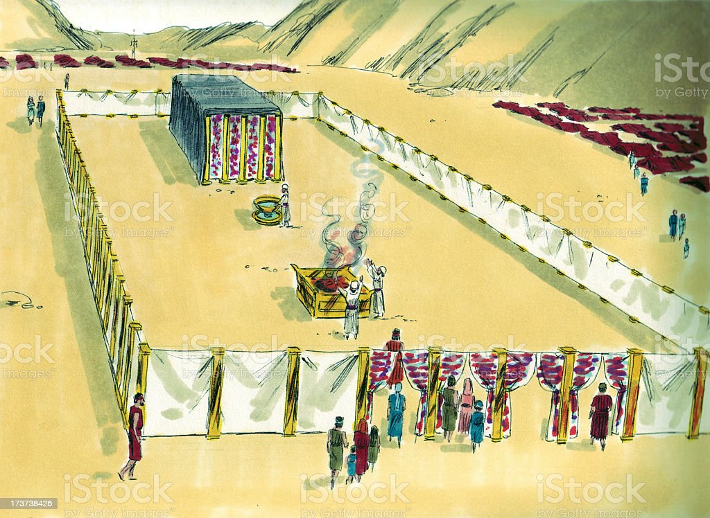Moses--Tabernacle Courtyard stock photo