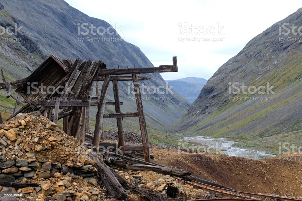 Moskodalen old copper mine. stock photo