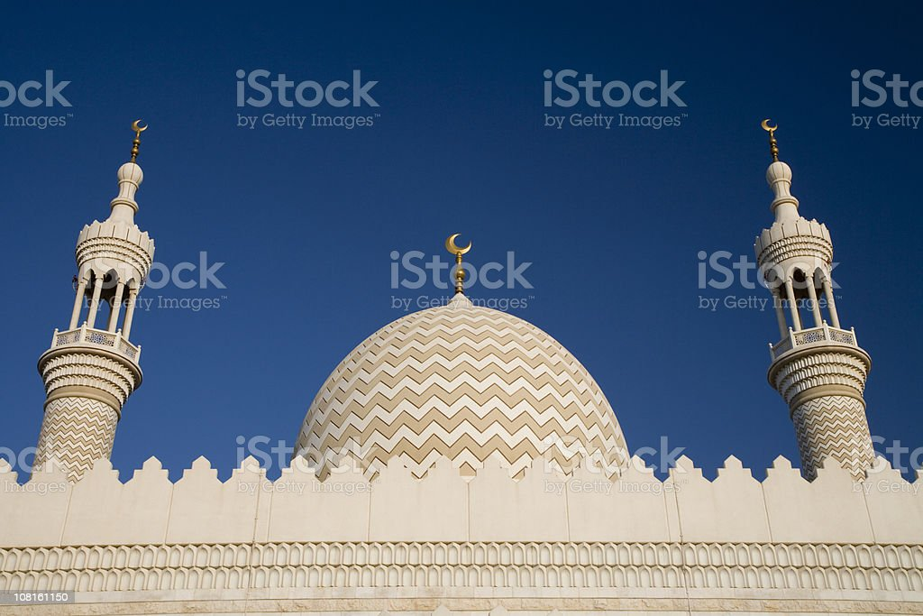 Mosque Against Blue Sky stock photo