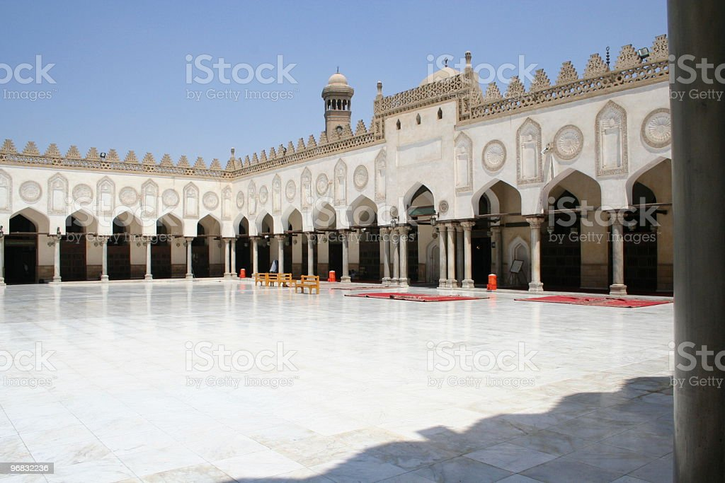 Mosque alazhar in cairo royalty-free stock photo