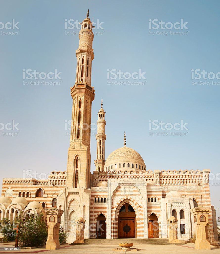 Mosque Al-Mustafa in Sharm El Sheikh stock photo