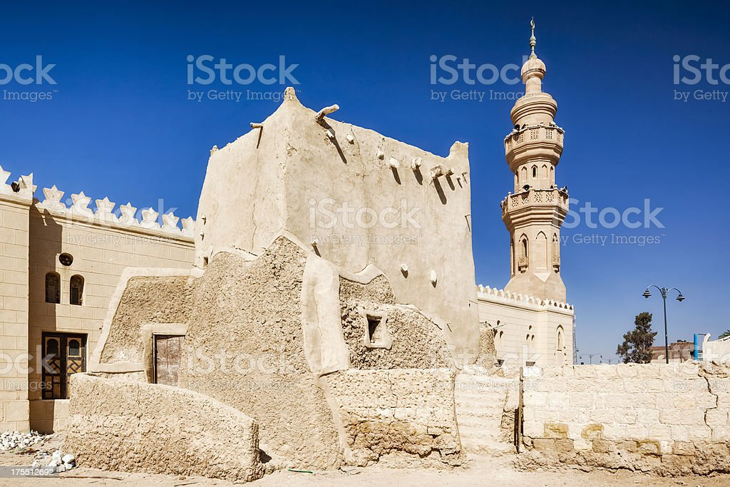 Mosque and grave of Sidi Suleiman in Siwa stock photo