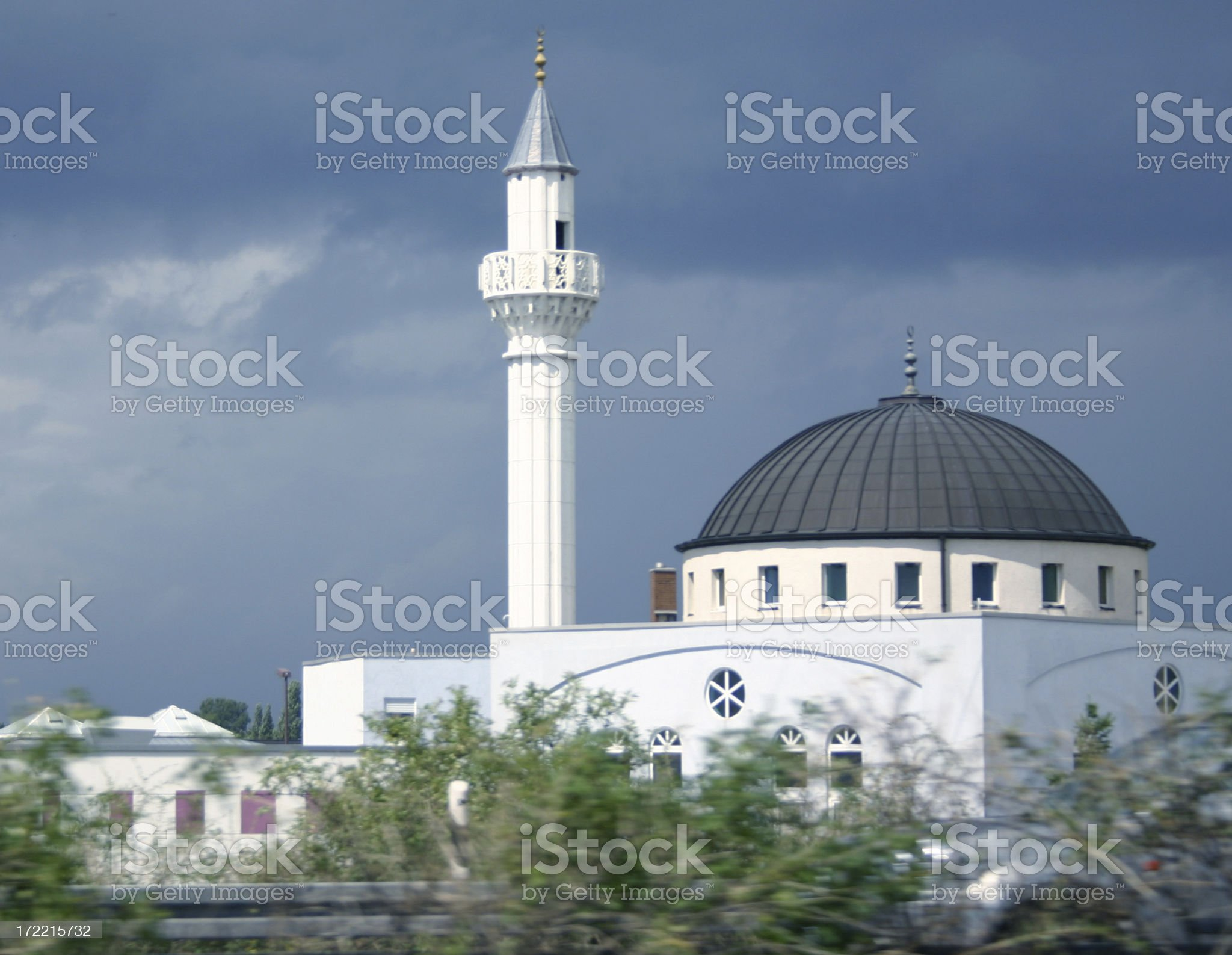 Mosque and Minaret- Islam royalty-free stock photo