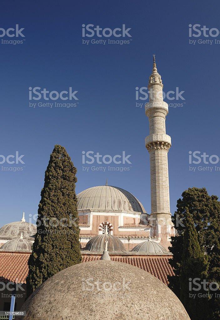 Mosque and Minaret stock photo