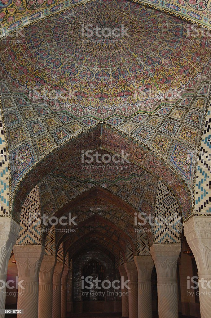 Mosque arches royalty-free stock photo