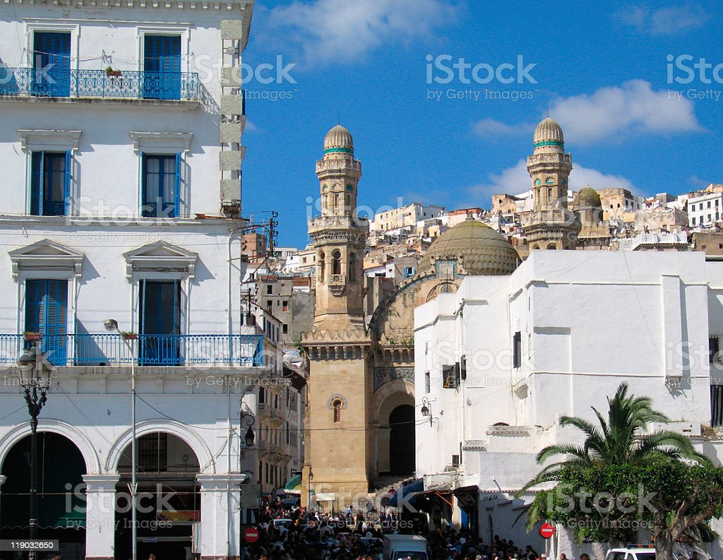 mosque at Algiers, capital city of Algeria country stock photo