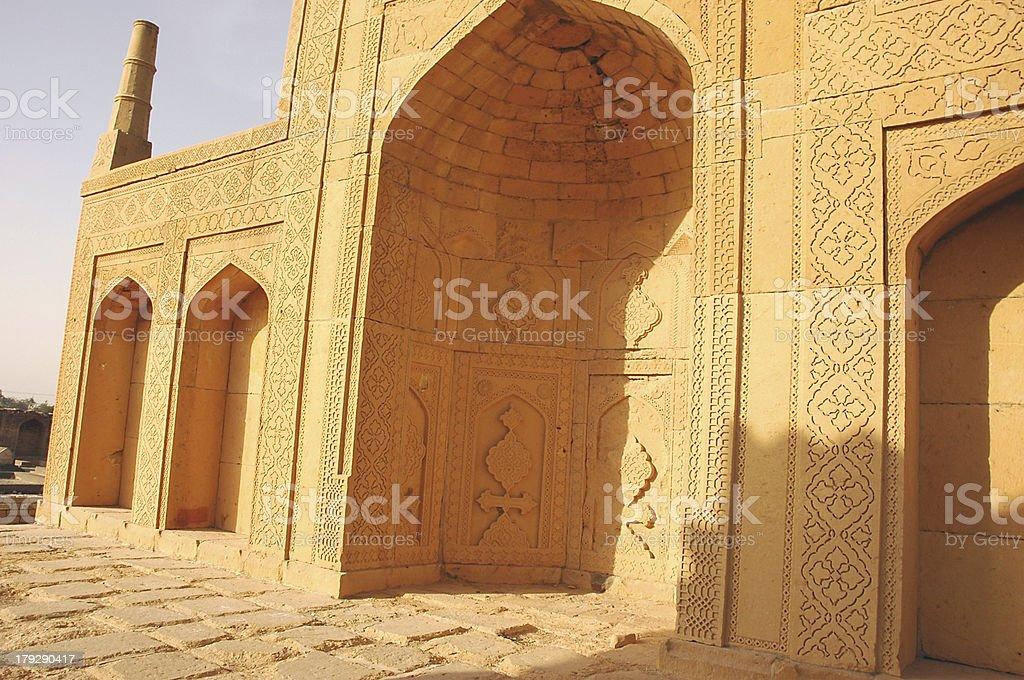 Mosque at Makli stock photo