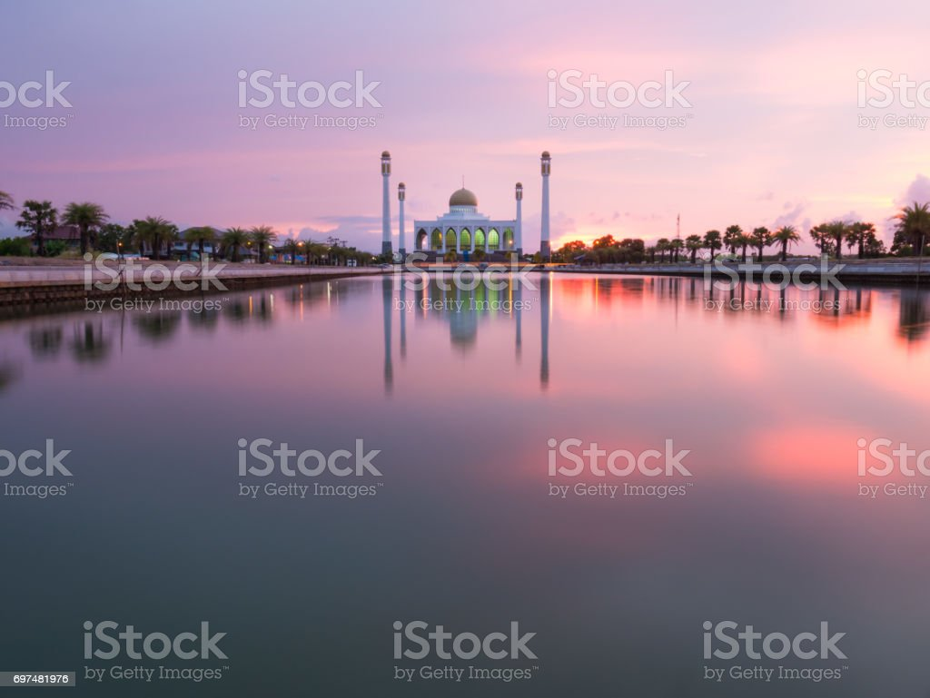 Mosque at South of Thailand that look like Taj Mahal stock photo