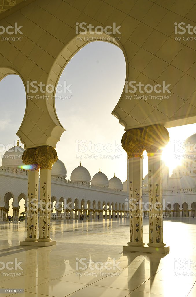 Mosque at Sunset royalty-free stock photo