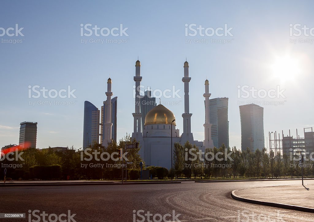 Mosque at the Astana stock photo