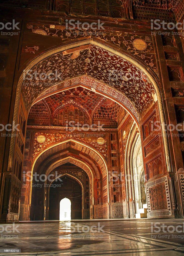 Mosque at the Taj Mahal. Agra, Uttar Pradesh, India royalty-free stock photo
