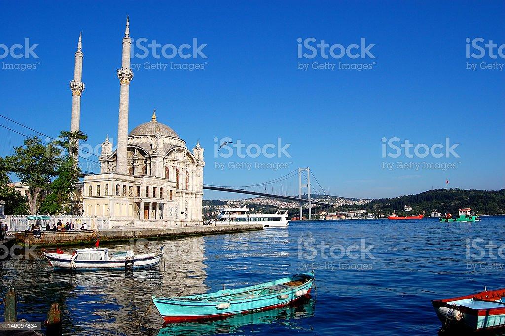 Mosque Bosphorus Istanbul royalty-free stock photo