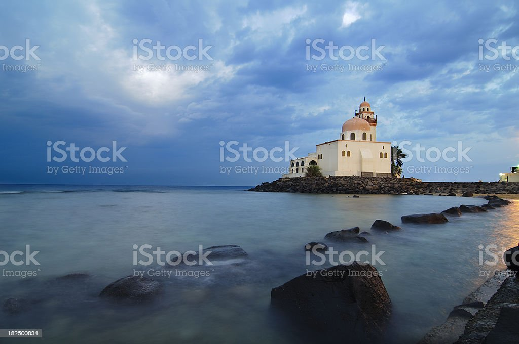 Mosque by Red Sea royalty-free stock photo