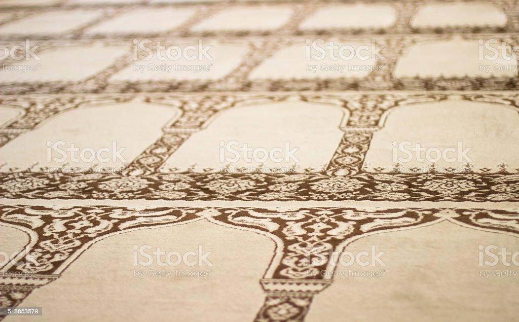 Mosque Carpet stock photo