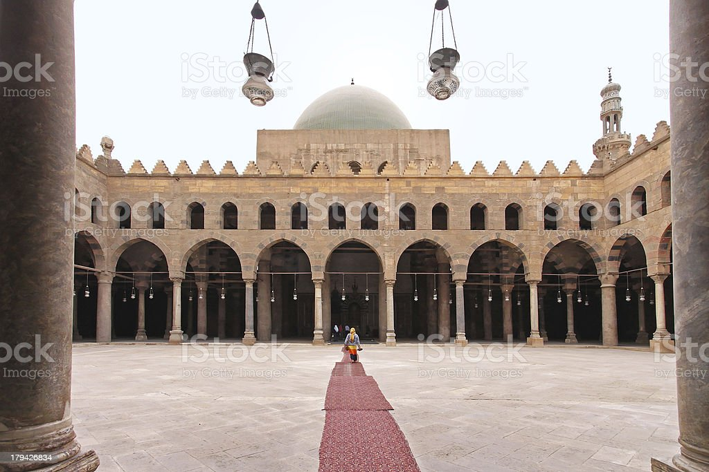Mosque courtyard royalty-free stock photo