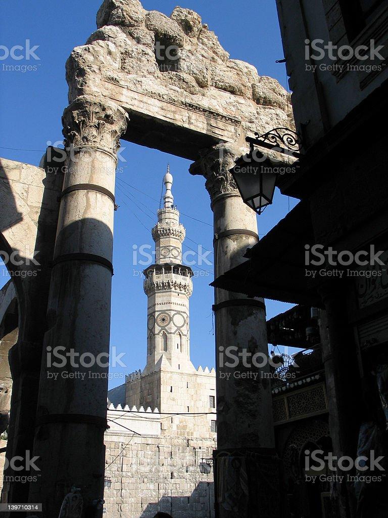 Mosque Damascus stock photo