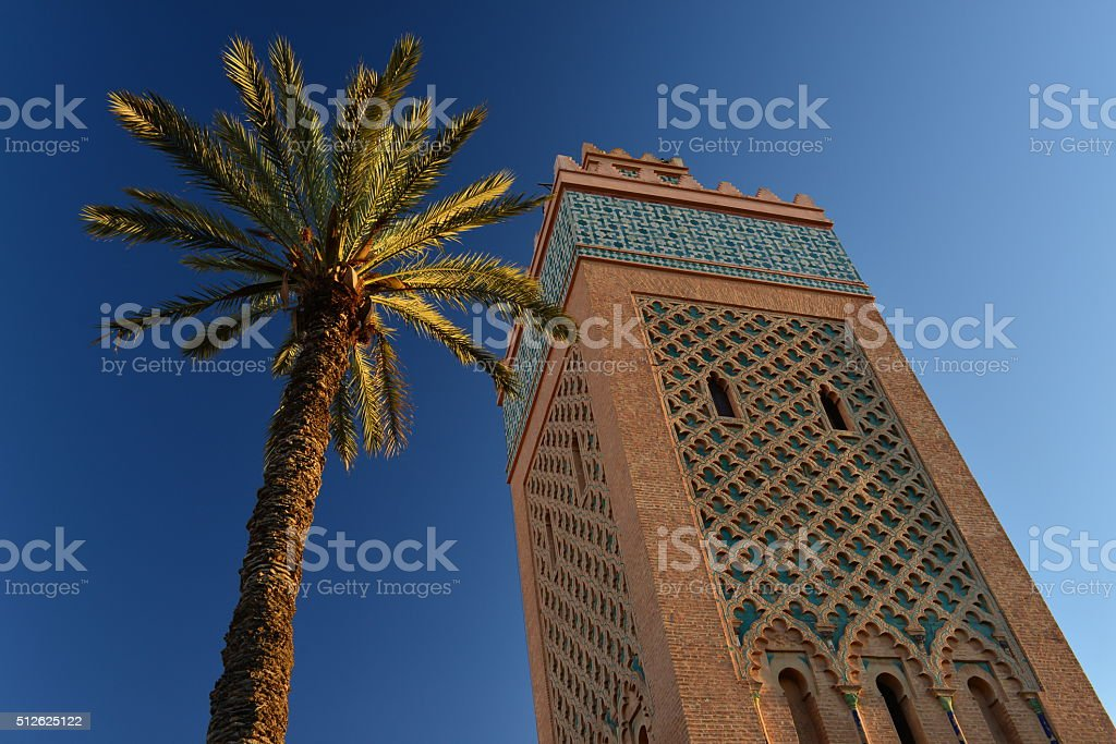 Mosque De La Kasbah, Marrakesh, Morocco, Africa. stock photo