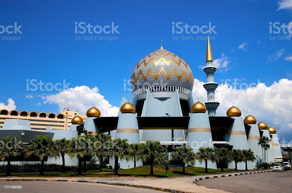 Mosque Dome, Borneo, Malaysia stock photo