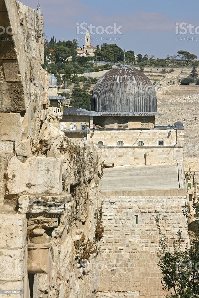 Mosque dome in the old city of Jerusalem. royalty-free stock photo