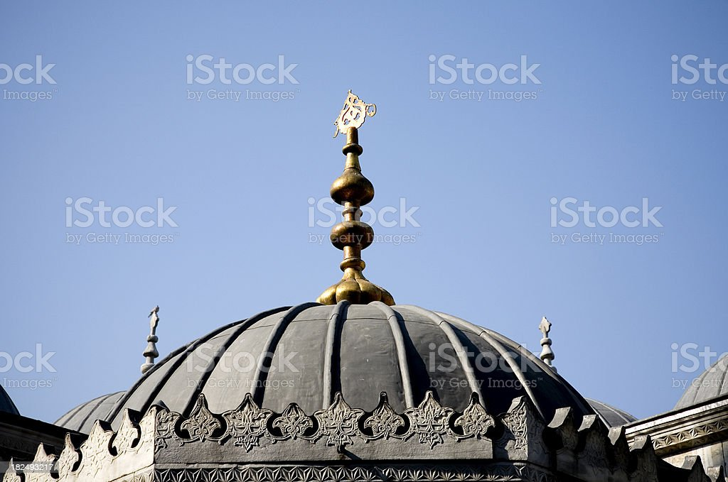 mosque dome stock photo