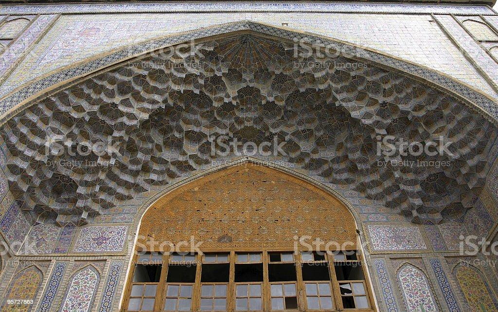 Mosque entrance in Shiraz, Iran stock photo