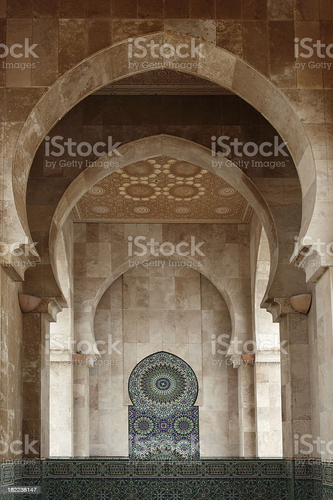 Mosque Hassan II, Casablanca, Morocco royalty-free stock photo