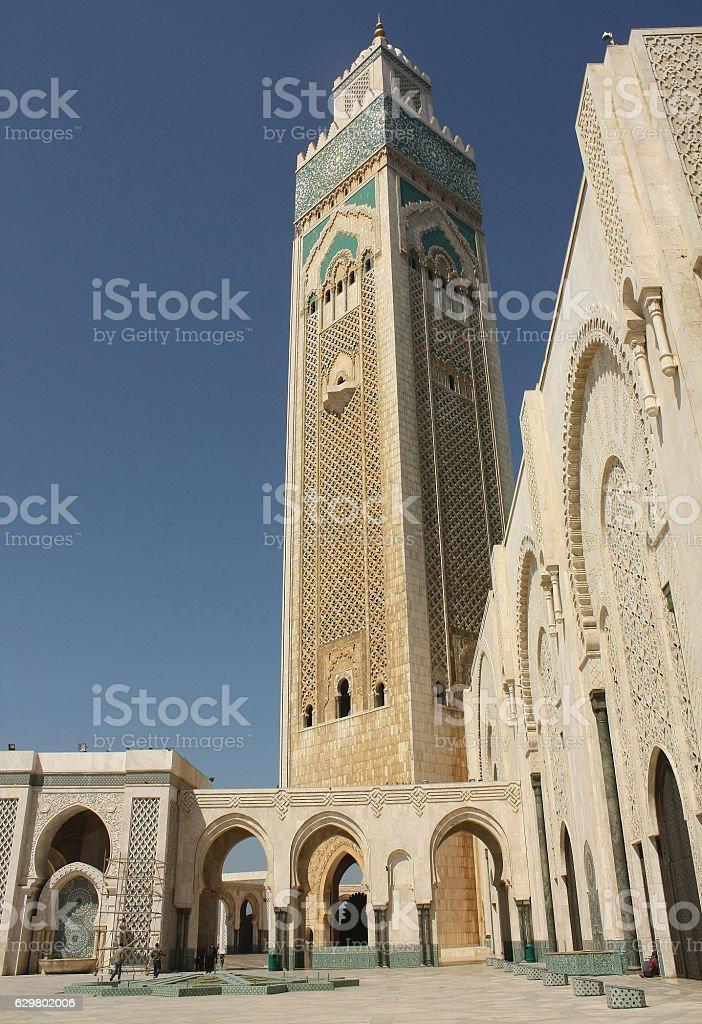 Mosque hassan ii, casablanca, morocco stock photo
