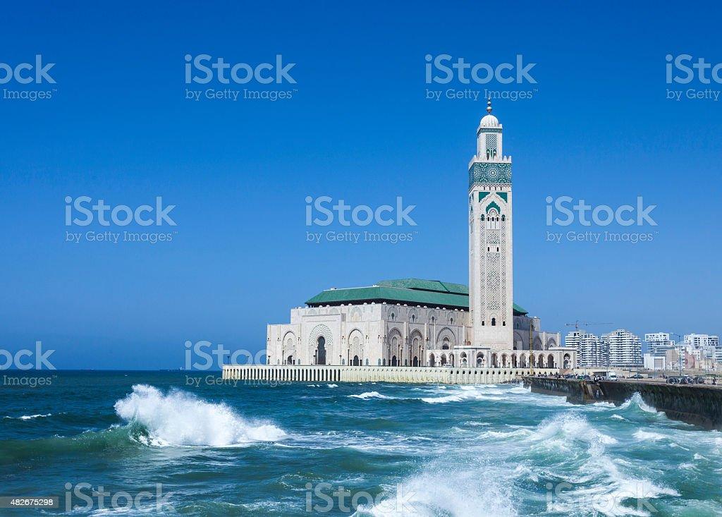 Mosque Hassan II in Casablanca stock photo