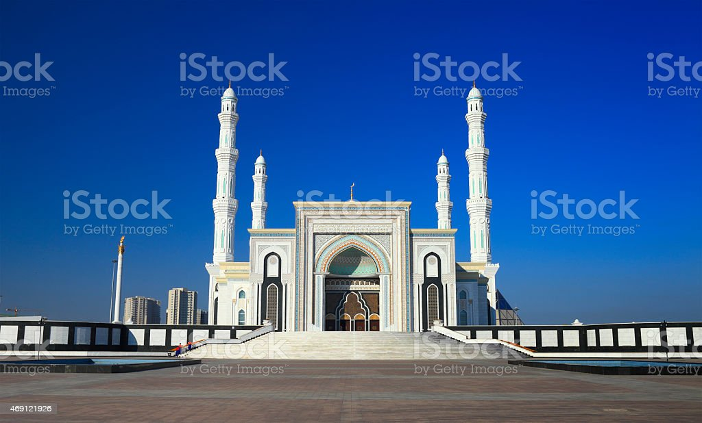 Mosque 'Hazret Sultan' in the early morning hours. Astana. Kazakhstan. stock photo