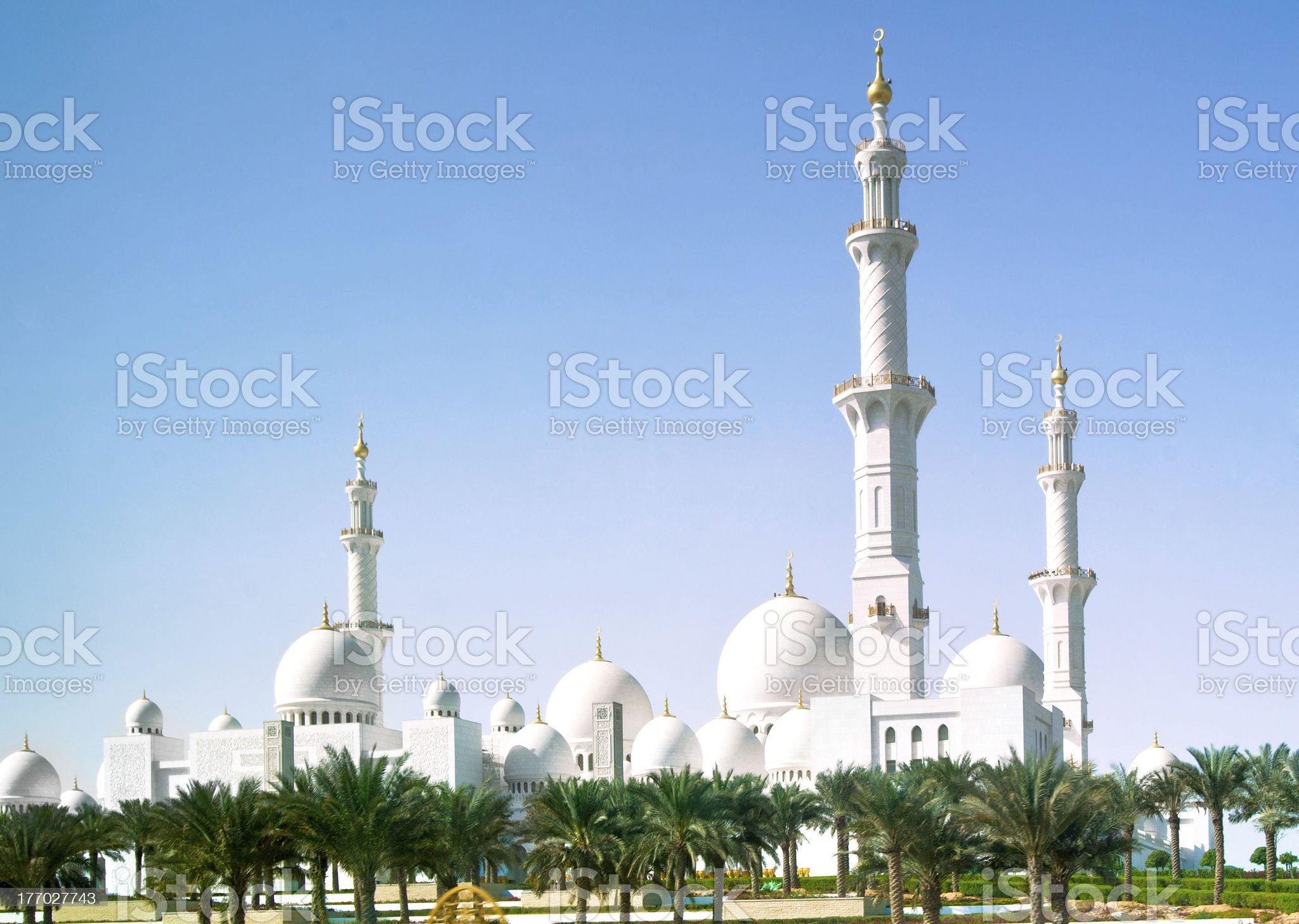 Mosque in Abu Dhabi royalty-free stock photo