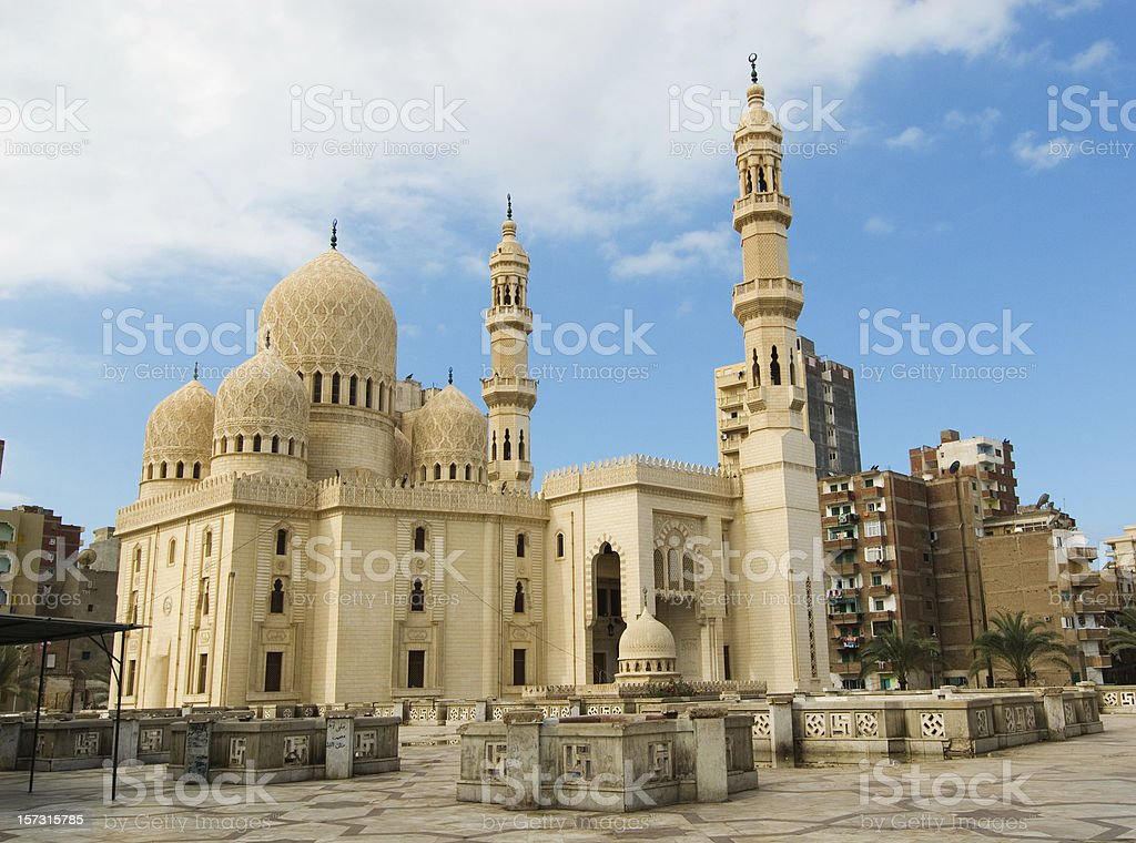 mosque in Alexandria royalty-free stock photo
