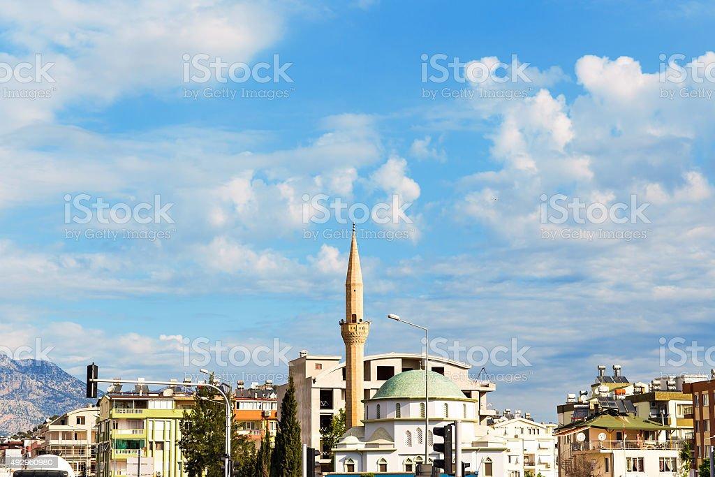 mosque in Antalya stock photo