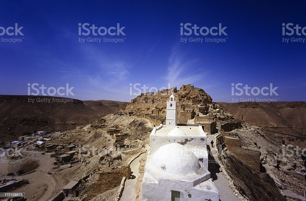 mosque in atlas mountains royalty-free stock photo