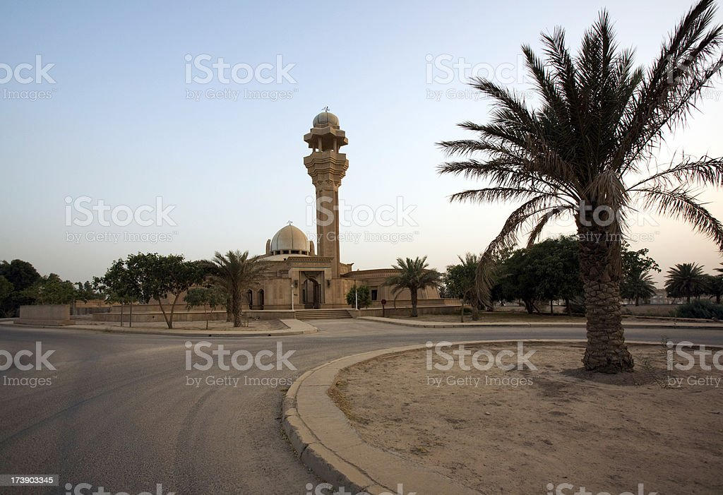 Mosque in Baghdad Iraq stock photo