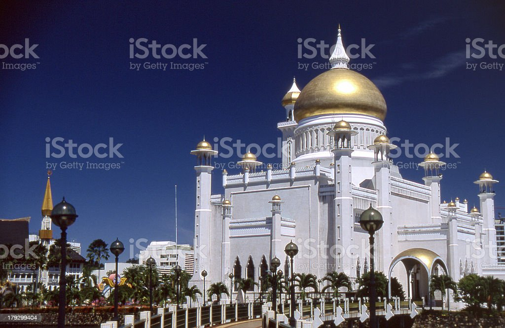 Moschee in Brunei stock photo