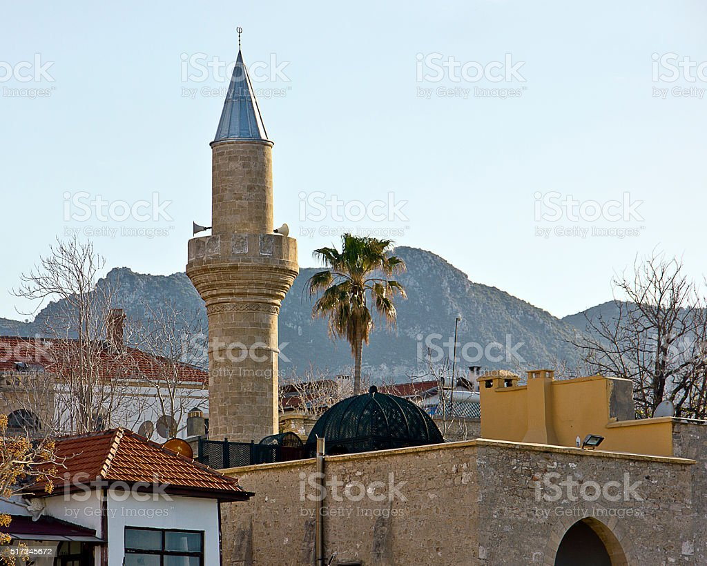 Mosque in Cyprus stock photo