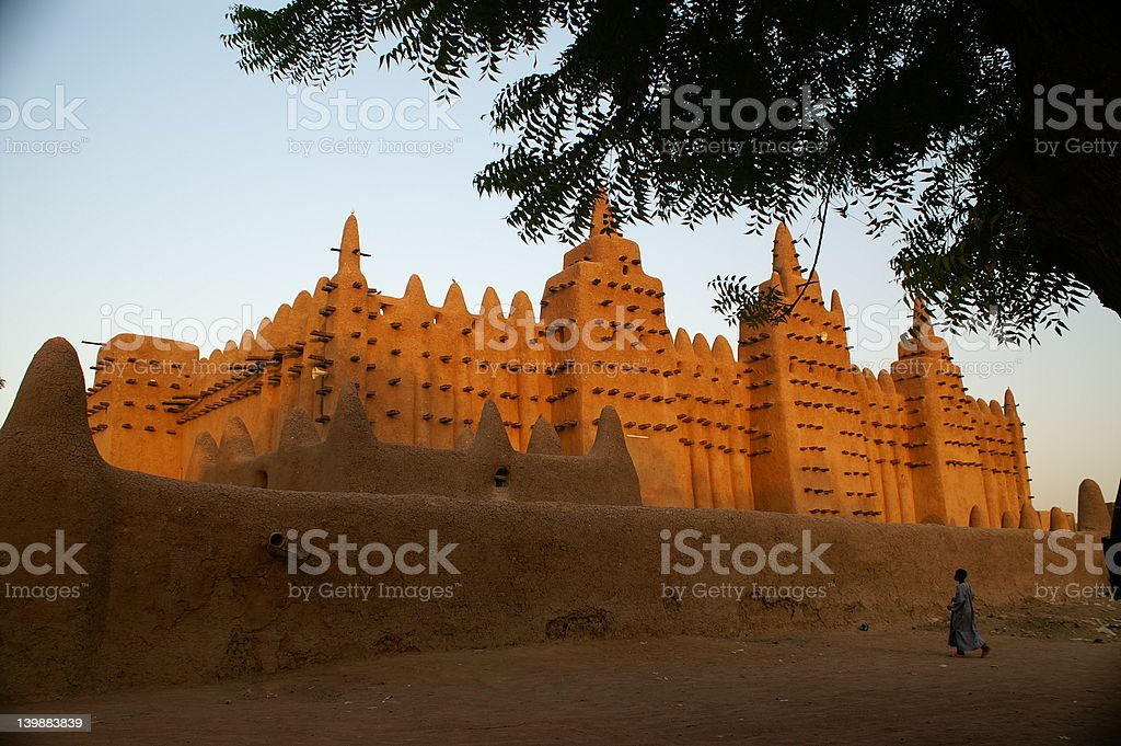 Mosque in Djenne royalty-free stock photo
