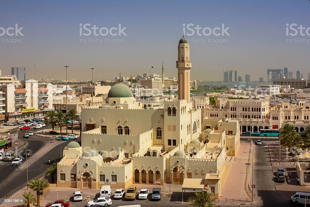 Mosque in Doha Qatar stock photo