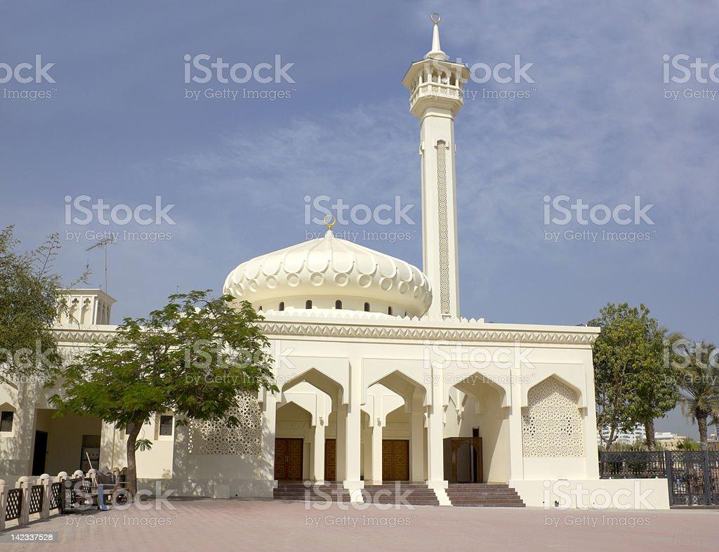 Mosque in Dubai royalty-free stock photo