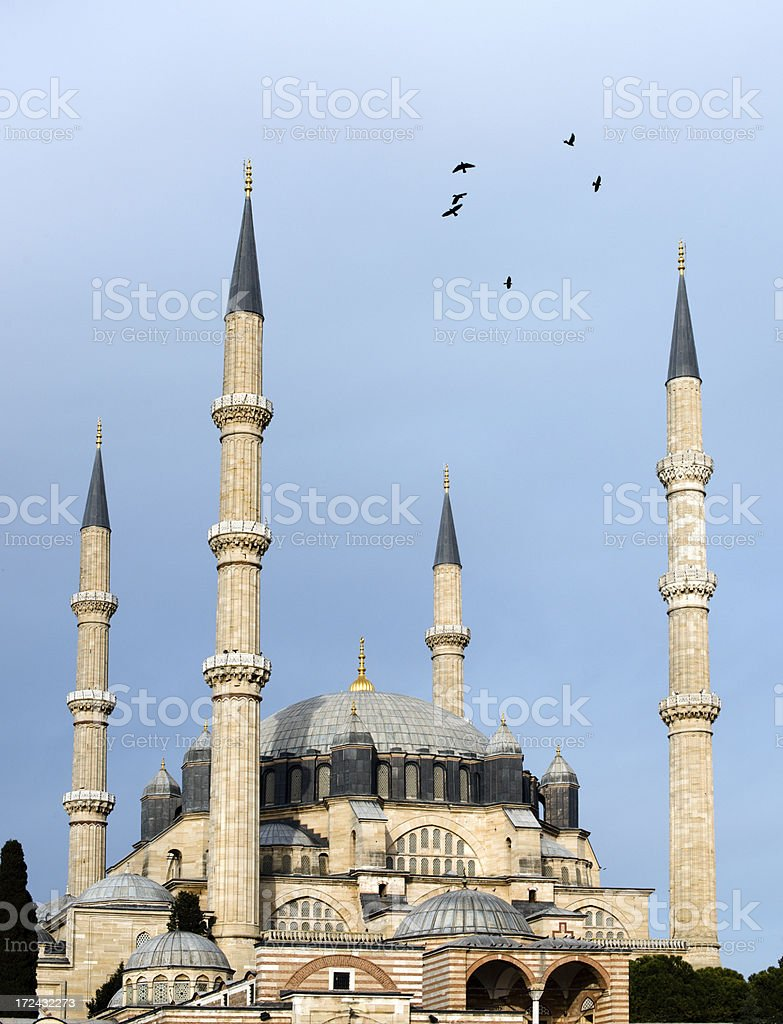 Mosque in Edirne, Turkey royalty-free stock photo