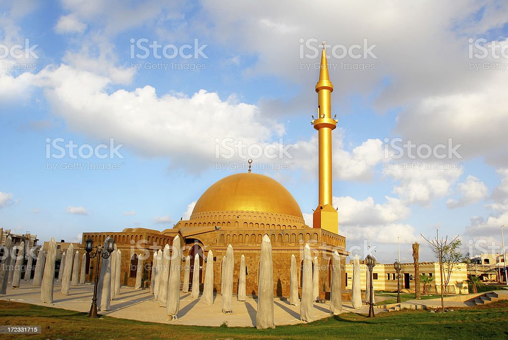 Mosque in Egypt stock photo