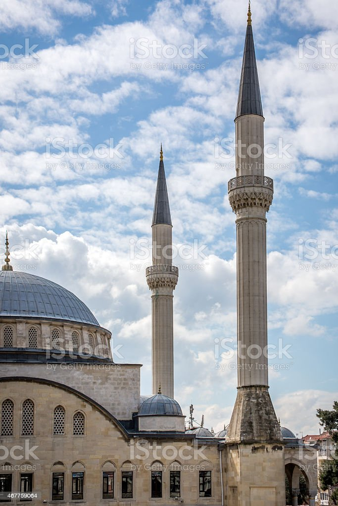 Mosque in Istanbul. Architecture in Islam. stock photo