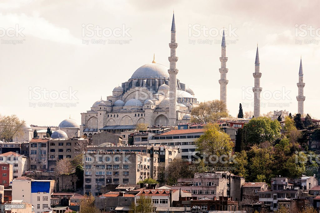 mosque in Istanbul, tourism travel destination stock photo