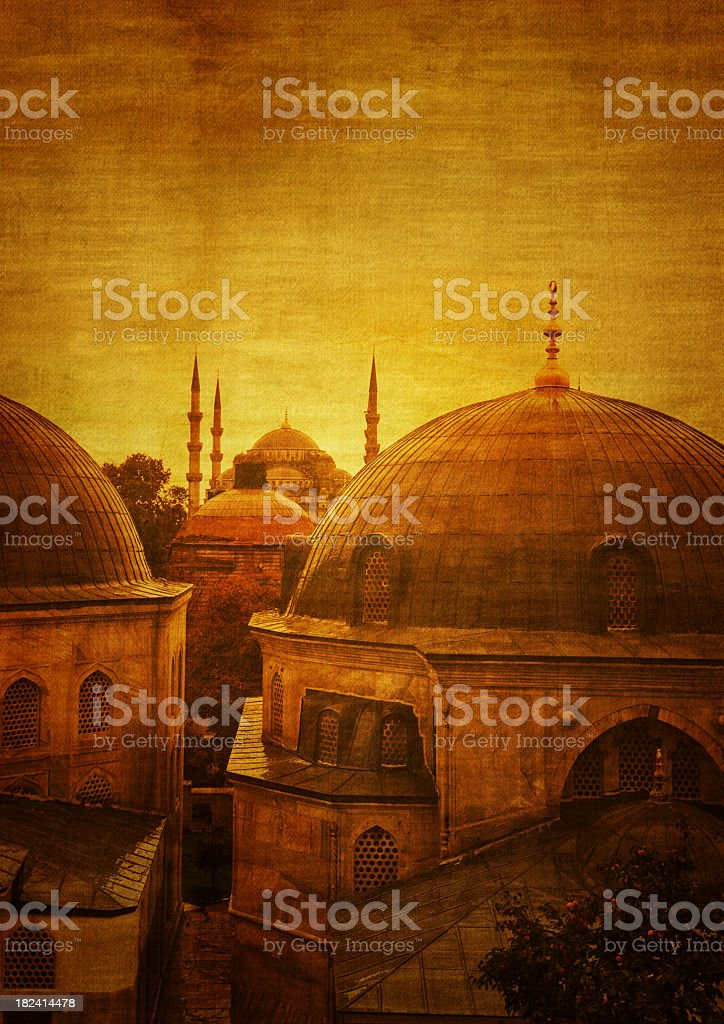 Mosque  in Istanbul, Turkey royalty-free stock photo