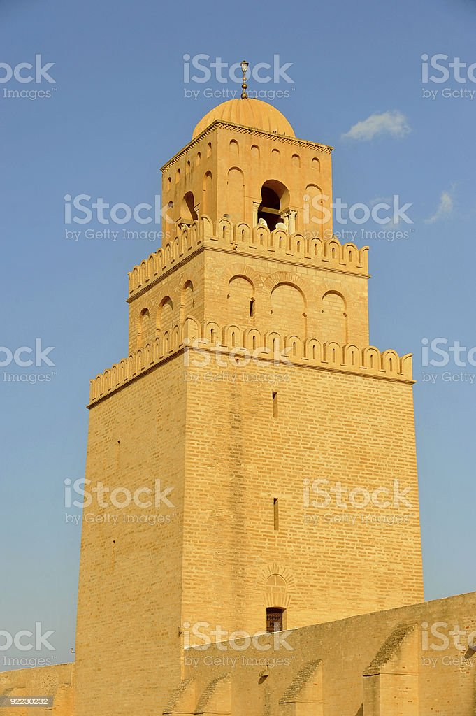 Mosque in Kairouan royalty-free stock photo