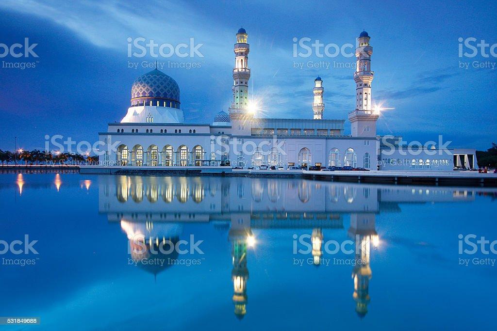 Mosque in Kota kinabalu Sabah stock photo